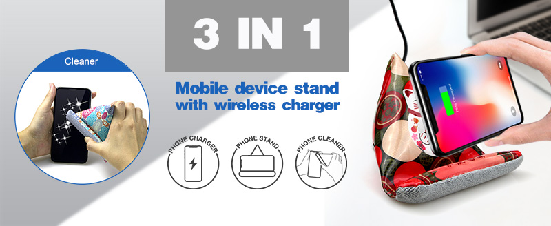 Mobile Stand With Wireless Charger