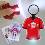 LED Plastic Flashlight Keychain