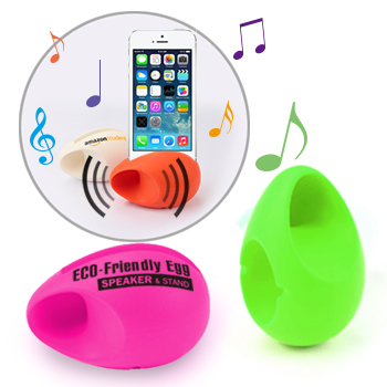 Silicone Egg Shape Mobile Speaker & Stand