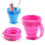 Silicone Foldable Cup with Handle