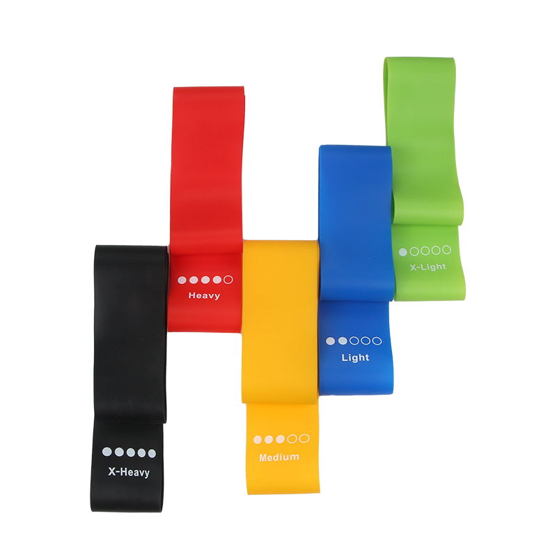 Silicone Resistance Band Set + Paper Box