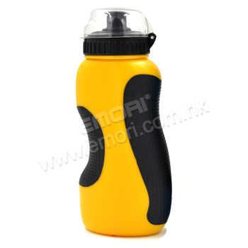 500ml PE sport water bottle with grip & dust cover